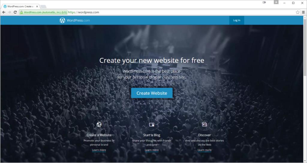 WordPress Com Home