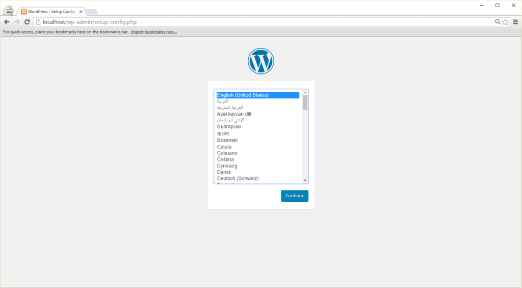 Wordpress Setup Main