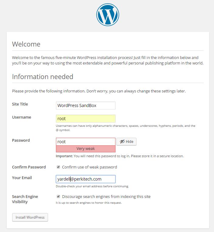 Wordpress Config Final