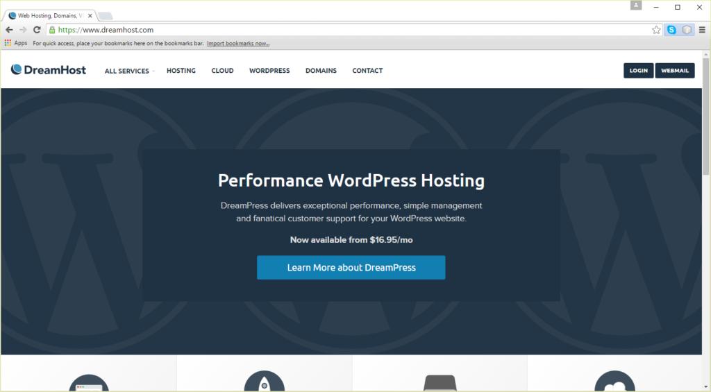 DreamHost Homepage