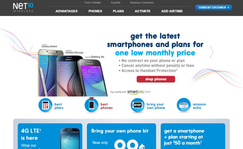 Net 10 Homepage