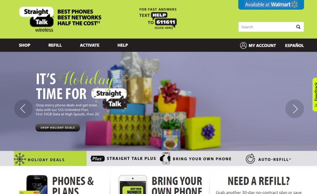 StraightTalk Homepage