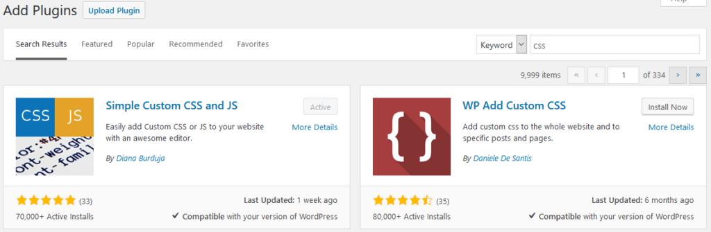 WordPress Plugin CSS Search