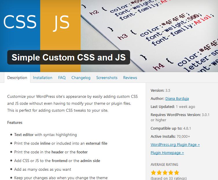 WordPress CSS Plugin Card