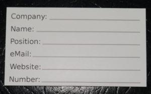 Blank Card Single